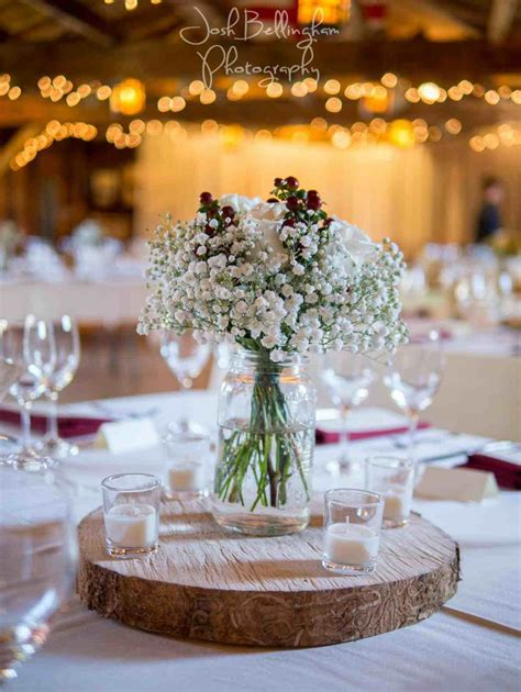 Books Mason Jar Vases Simple Vintage Wedding Centerpieces