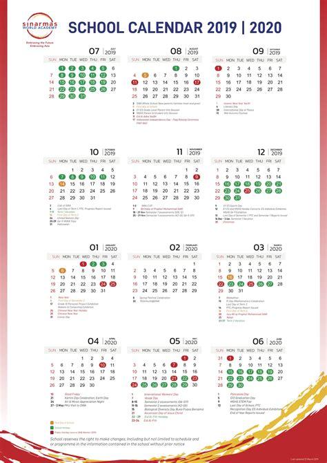 school calendar life  swa sinarmas world academy