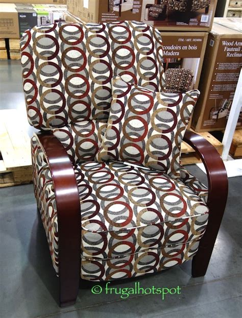 costco sale synergy home wood arm recliner 239 99