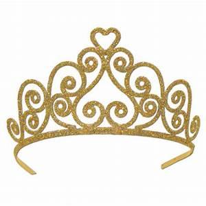 Gold Princess Crown Clipart - ClipartXtras