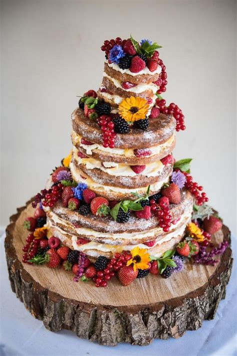 yummy rustic berry wedding cakes deer pearl flowers