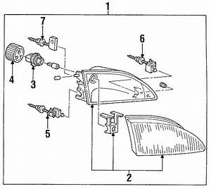 1997 Ford Mustang Composite Assembly  Headlight Assembly