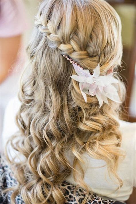 Wedding Hairstyles For Hair With Braids by Wedding Hair With Braids And Curls