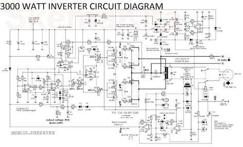 Watt Inverter Circuit Diagram Converter
