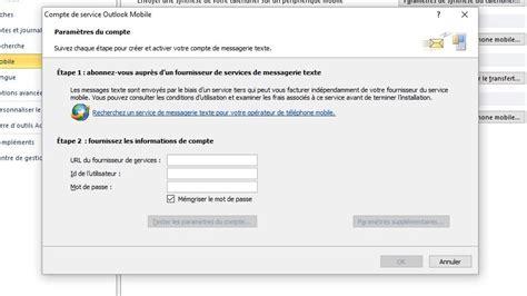 Utiliser Service Sms Via Outlook