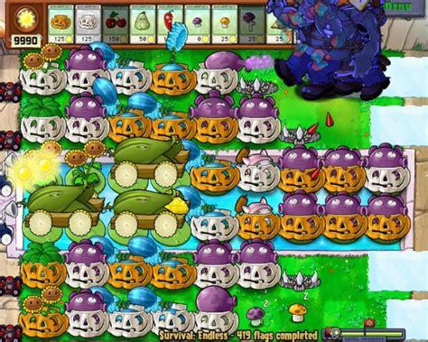 flags plants zombies endless vs survival setup strategies cannons corn 1000 similar