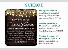 Sukkot & Simchat Torah Chabad of the TriValley