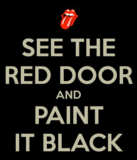 black o tank top see the door and paint it black poster 42 keep