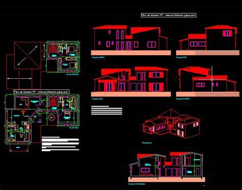 plan de maison gratuit 4 chambres plan de maison moderne 4 pièces villad 39 architecte 117