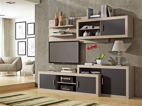 mueble de salon comedor roble  grafito mobiliario salon