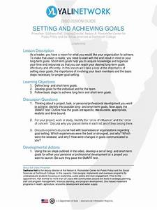 Setting And Achieving Goals Discussion Guide