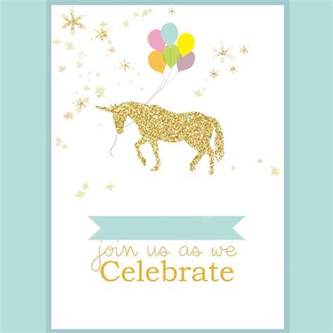 unicorn party invite living  loving