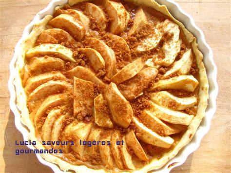 tarte aux pommes 224 la cr 232 me p 226 tissi 232 re et aux speculoos lucia saveurs l 233 g 232 res et gourmandes