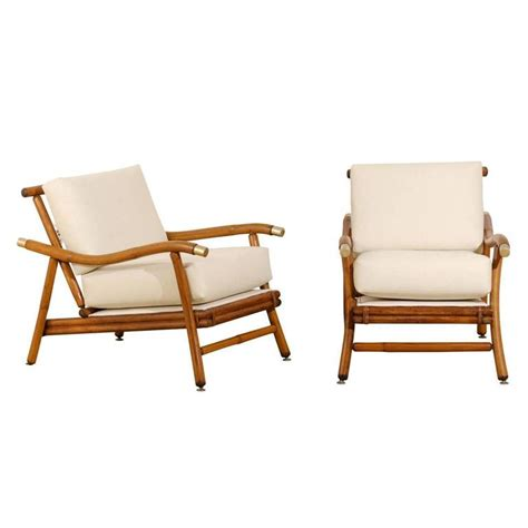 restored pair of caign lounge chairs by john wisner for