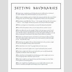 Set Your Boundaries  Setting Boundaries, Respect And Feelings