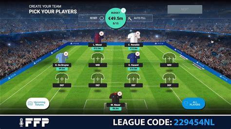 Free To Play Uefa Champions League Fantasy Football League