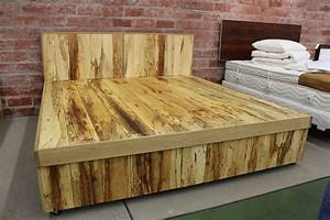 how to build a platform bed with storage and headboard