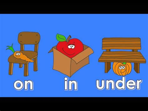 Prepositions: on/ in/ under - English ESL video lesson
