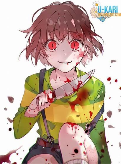 Chara Undertale Deviantart Render Scared Anime Sans