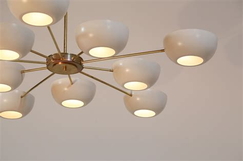Grand Lustre Moderne Italien 10 Branches Style Gino