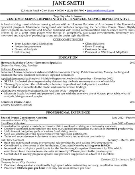 customer service representative resume sle template