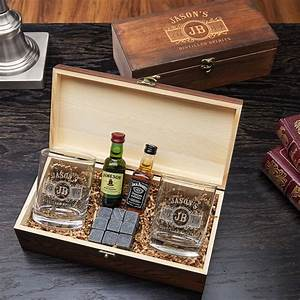 marquee engraved glasses and stones gift box set for