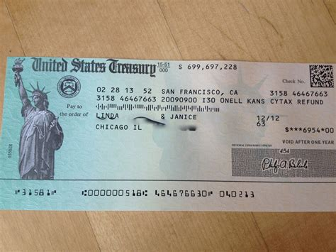 Income Tax Refund Check