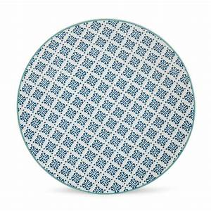 Assiette Bleu Canard : assiette en gres multicolore ~ Teatrodelosmanantiales.com Idées de Décoration