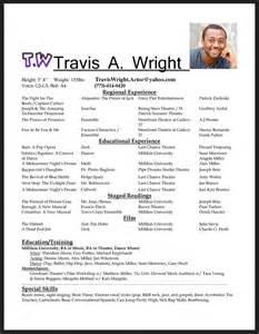 Acting Resume Format Free Resume Sample
