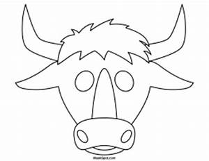 printable bull mask With bull mask template