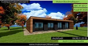 plan et photo maison plain pied en l ou plein pied en rez With nice agrandir sa maison prix 5 plan et photo de maison avec etage ossature bois par