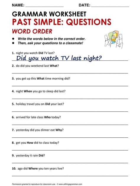 1000+ Images About Simple Tenses On Pinterest  Printable Worksheets, Grammar Lessons And Verb