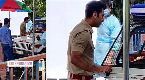 Ranbir Kapoor's Pic Shooting On A Set Dressed In A Police ...