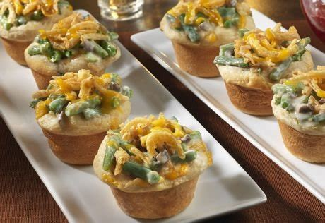 mini green bean casseroles recipe campbells kitchen