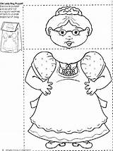 Swallowed Lady Fly Bag Paper Coloring Printable Template Puppet Activities Preschool Crafts Reading Puppets Printables Leaves Obseussed Know Fish Must sketch template