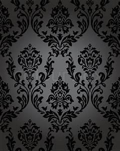 Seamless wallpaper baroque blackeps Stock Vector Colourbox