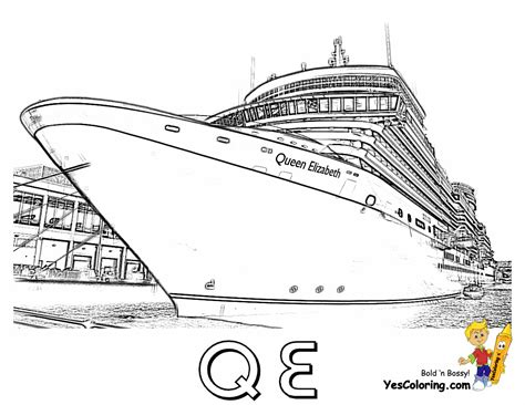 Free Titanic Ship Picture Coloring Pages