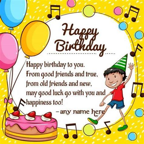 write   happy birthday cakes  cards wishes