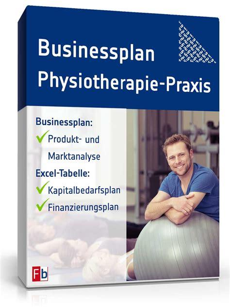 businessplan physiotherapie muster aus profihand zum