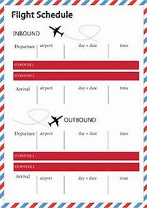 1000 images about travel journal on pinterest travel With flight schedule template