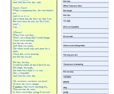 the way worksheet song worksheet just the way you are by bruno mars with