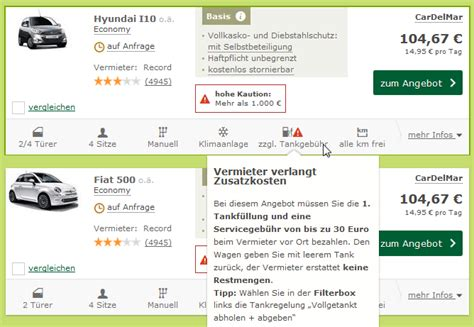 Stellplatzmiete Kosten Angebot Tipps by Billige Mietwagen Richtig Buchen Experten Tipps