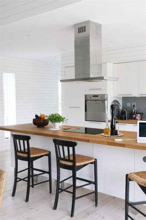 cuisine plan de travail en bois cuisine blanc plan de travail bois photos de design d