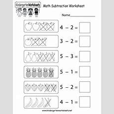 Math Subtraction Worksheet  Free Kindergarten Math Worksheet For Kids