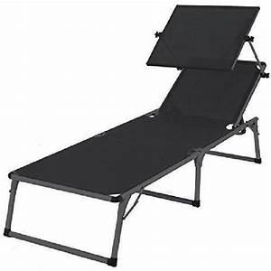 Chaise Longue Aluminium : ultranatura chaise longue nizza en aluminium avec pare ~ Teatrodelosmanantiales.com Idées de Décoration