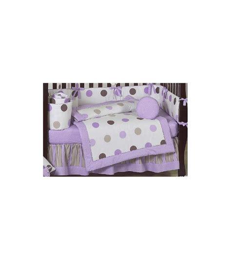sweet jojo designs mod dots purple 9 piece crib bedding set
