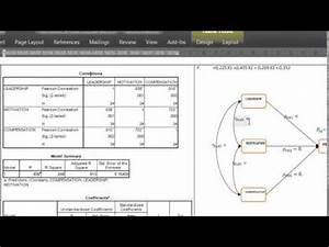How To Draw Path Analysis Diagram With Data From Spss
