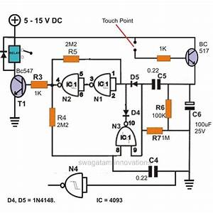 how to build a simple touch sensitive switch With the circuit was designed to create a touch switch that can be used for