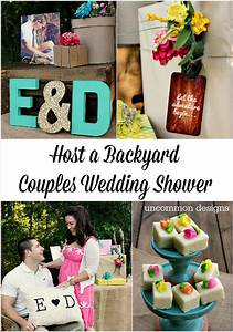 backyard couples wedding shower uncommon designs With couples wedding shower ideas