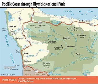 Olympic Coast National Pacific Map Park Washington